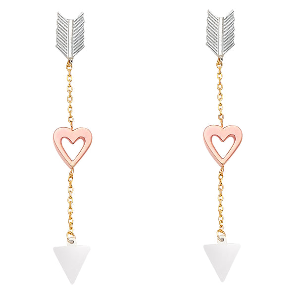 Heart Arrow Drop Earrings