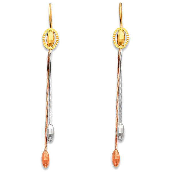 Oval Bead Drop Earrings
