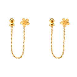 Flower Chain Link Earrings