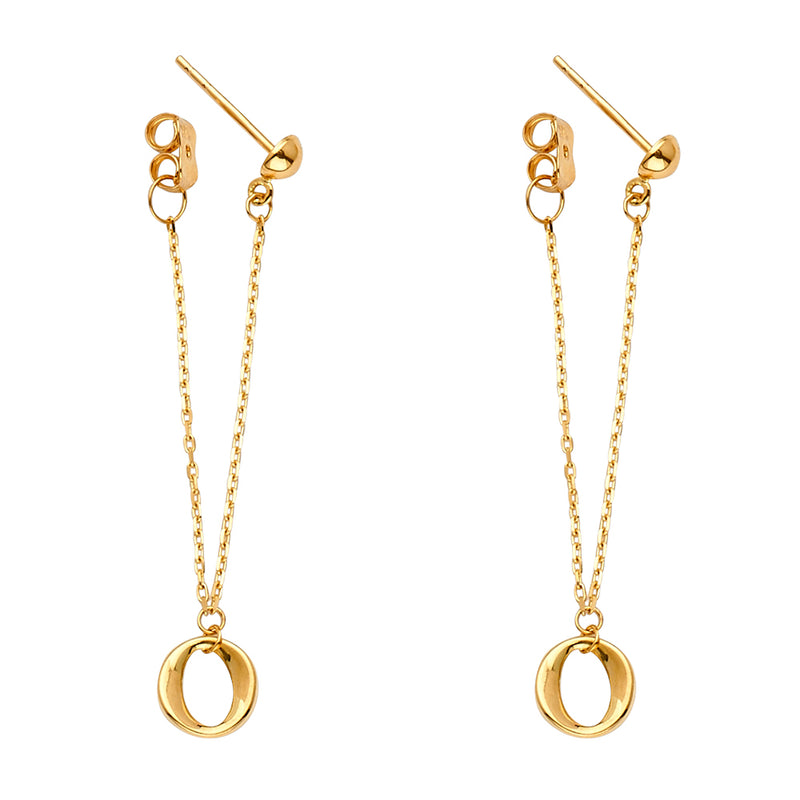 Open Circle Chain Link Earrings