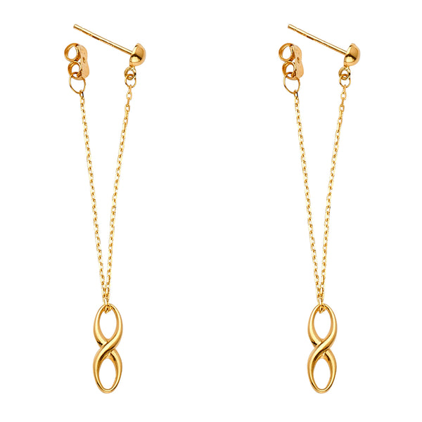 Infinity Loop Chain Link Earrings