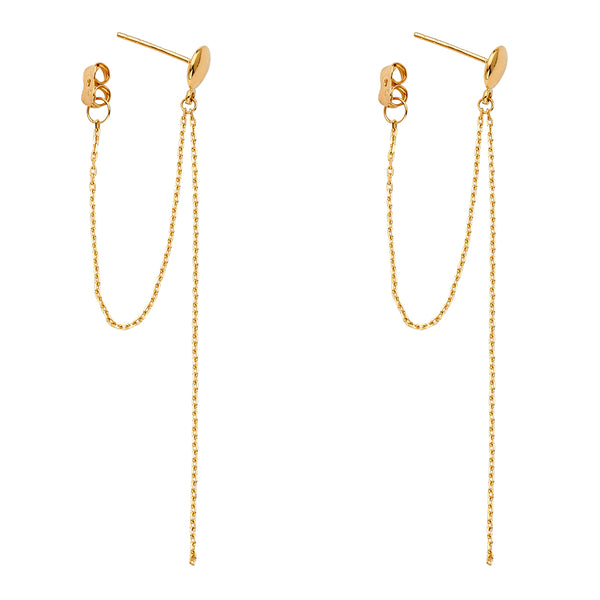 Flat Round Chain Link Earrings