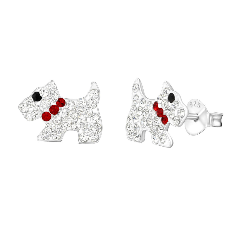 Dog Swarovski Crystal Studs