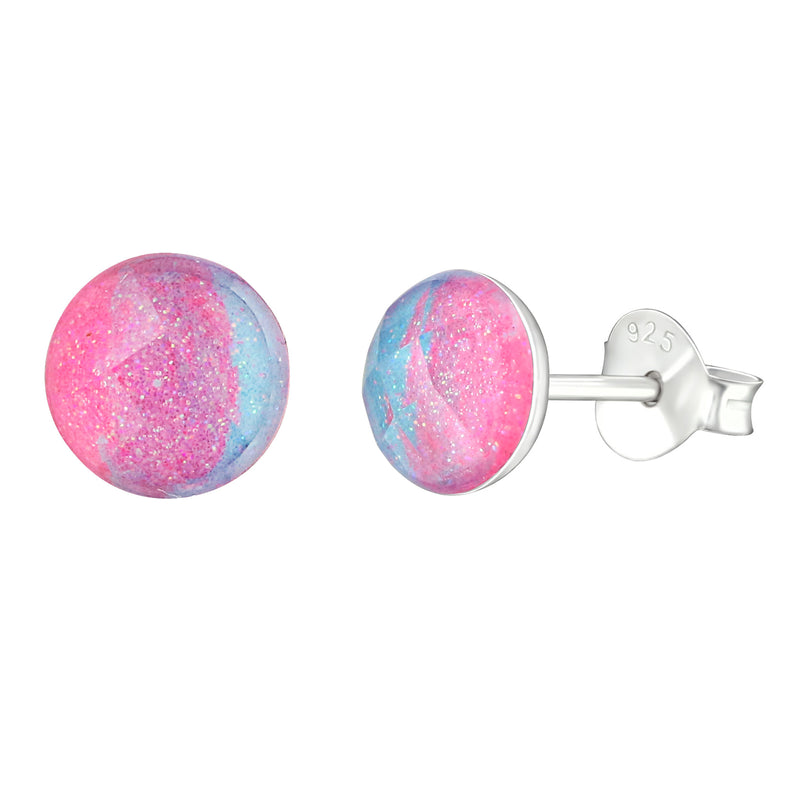 Round Abstract Color Studs