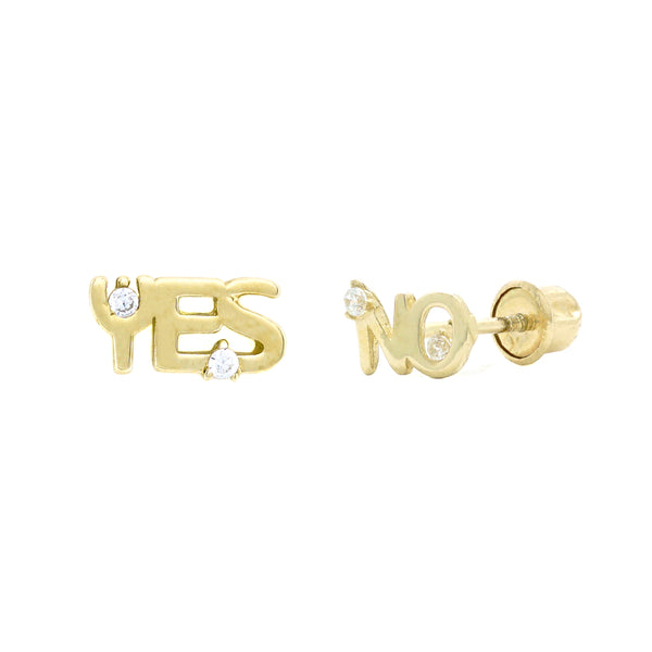 Yes No CZ Studs
