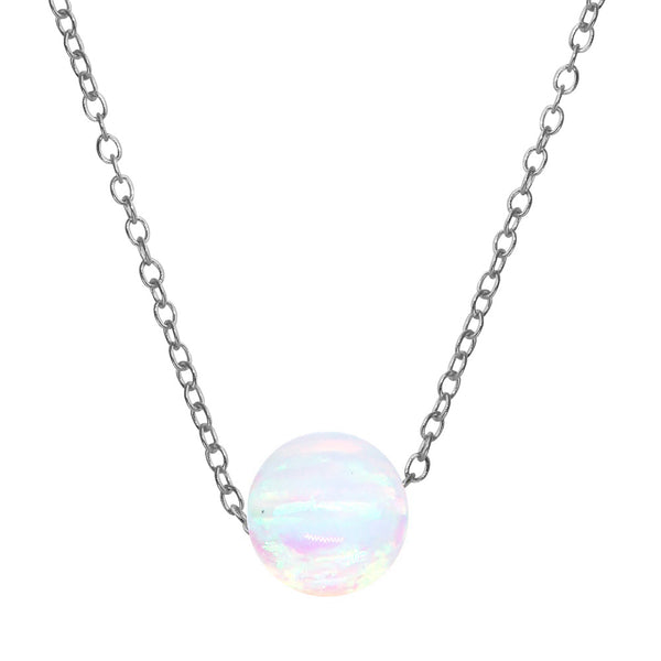 Opal Ball Necklace