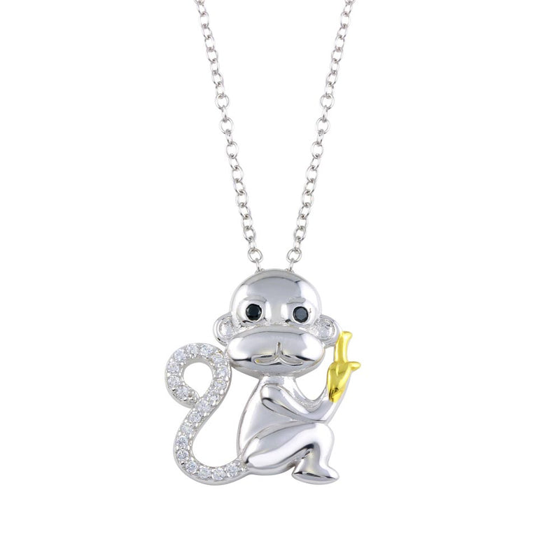 Monkey CZ Necklace
