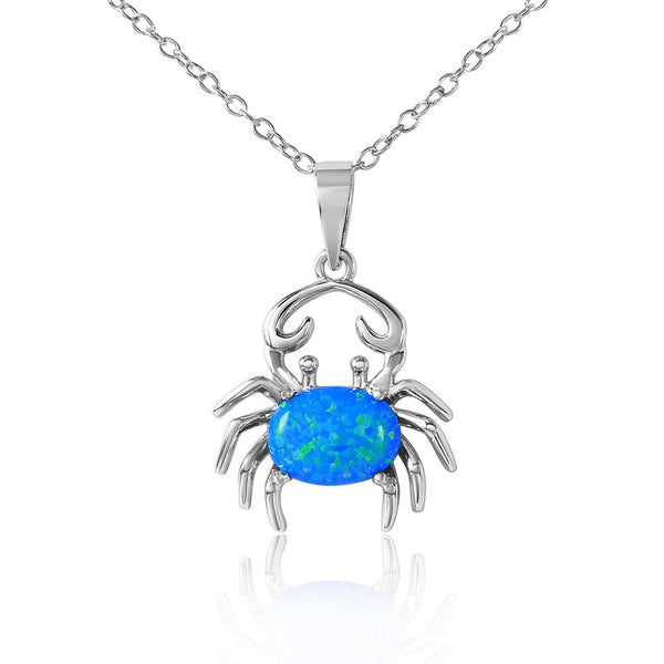 Crab Cancer Opal Necklace
