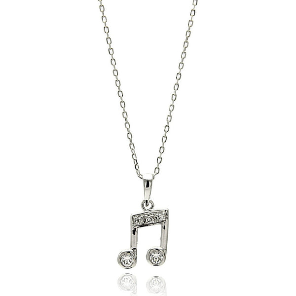 Beamed Notes Necklace