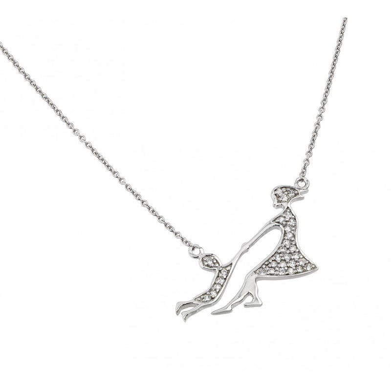 Mother & Child Pendant Necklace