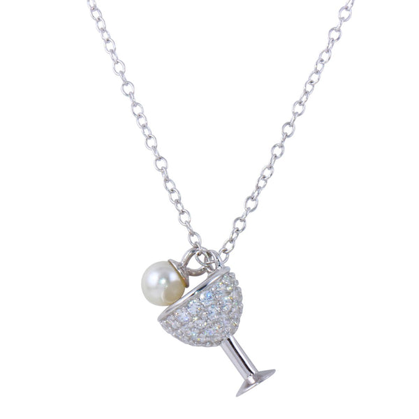 Cocktail Pearl Pendant Necklace