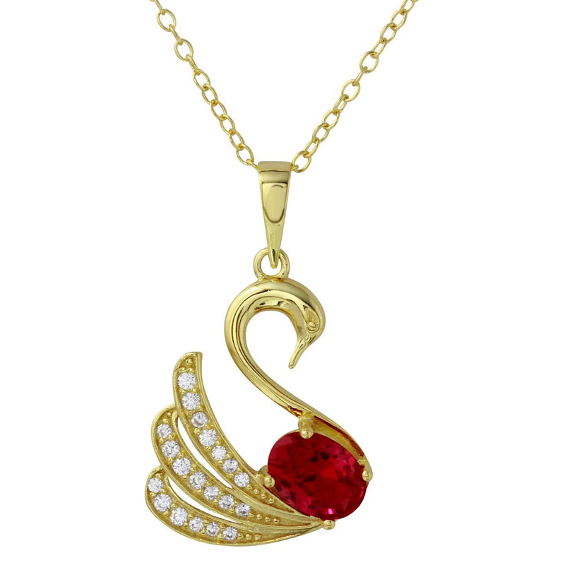 Swan Pendant Necklace