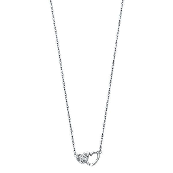 Inside Out Heart Charm Necklace