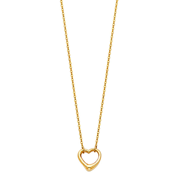 Heart Outline Charm Necklace