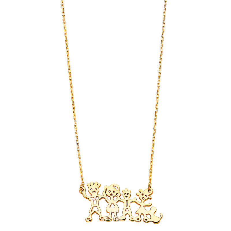 Happy Family Charm Necklace