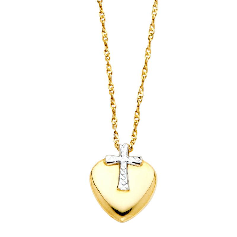 Cross and Heart Necklace