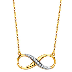 Infinity Loop Charm Necklace