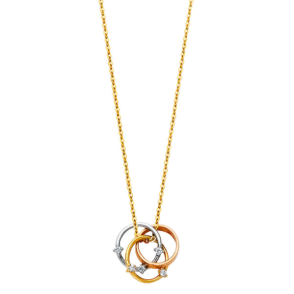 3 Rings Charm Necklace