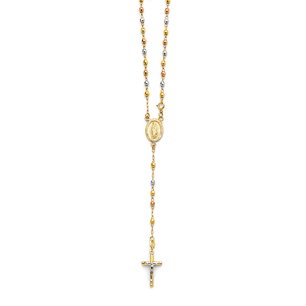 3mm DC Ball Rosary Necklace, 18""
