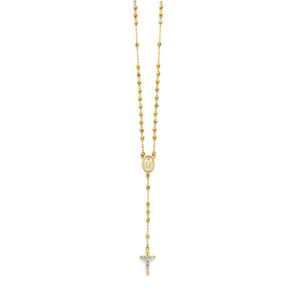 3mm Ball Rosary Necklace, 18""