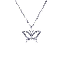 Butterfly CZ Pendant Necklace