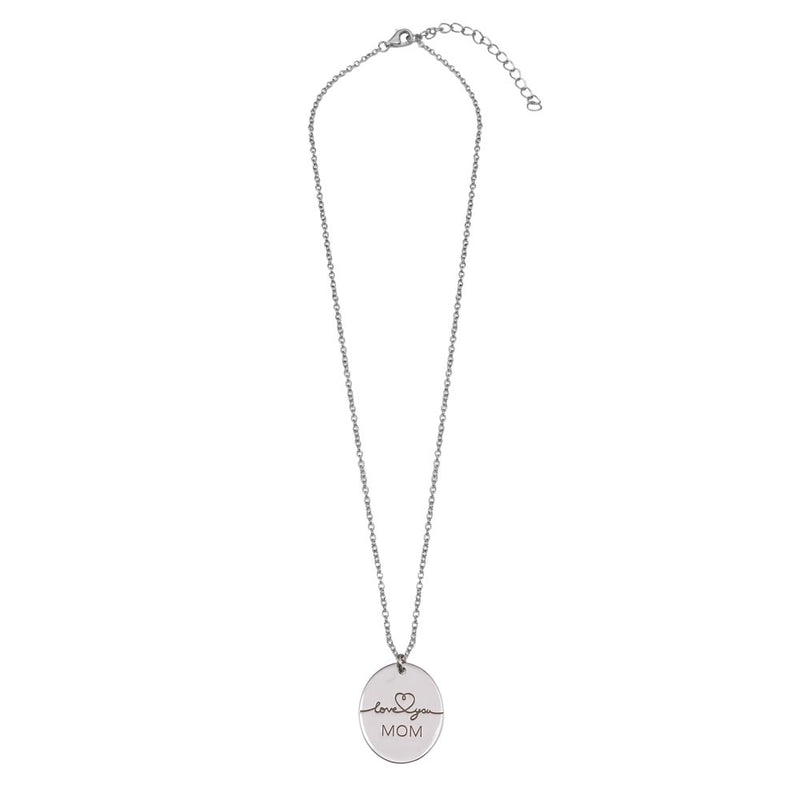 I Love You Mom Pendant Necklace