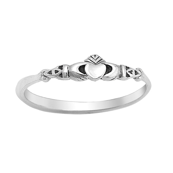 Thin Claddagh Ring