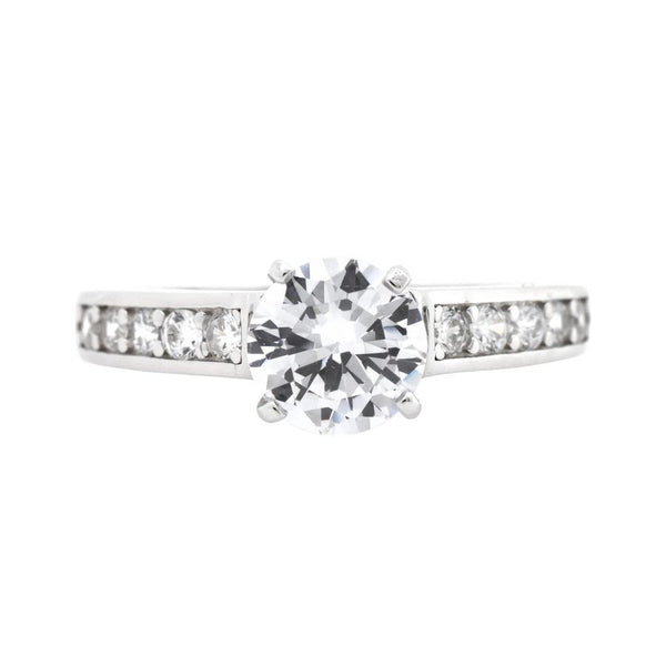 Round CZ Solitaire Ring