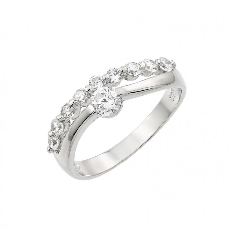 Split CZ Fashion Ring