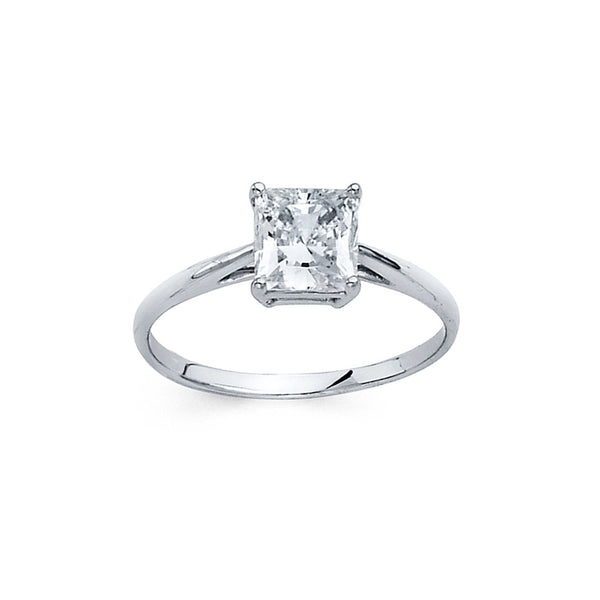 Square CZ Solitaire Ring