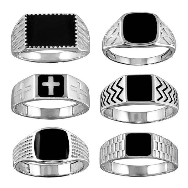 Black Enamel Fashion Ring
