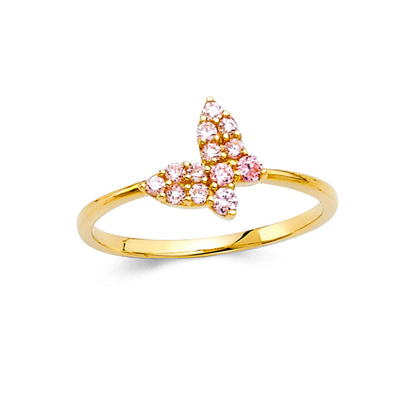 Butterfly CZ Filled Ring