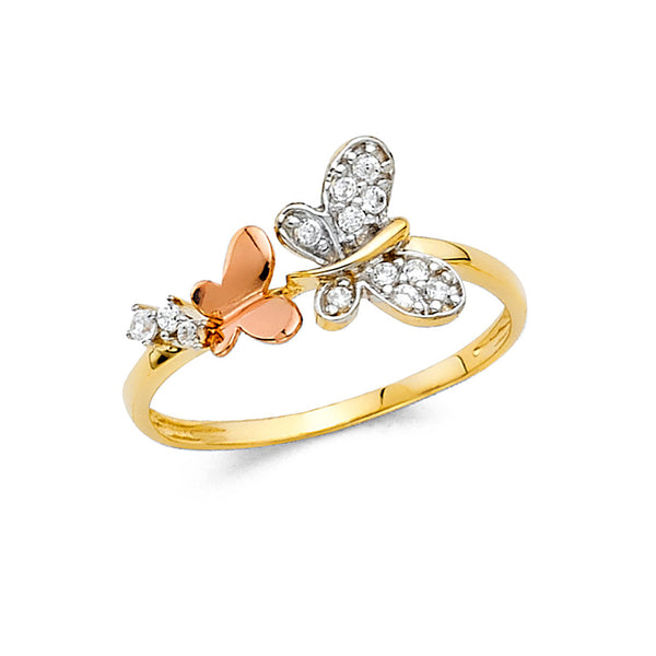Butterfly Three Tone Ring