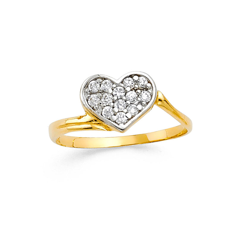 Heart Swirl Ring
