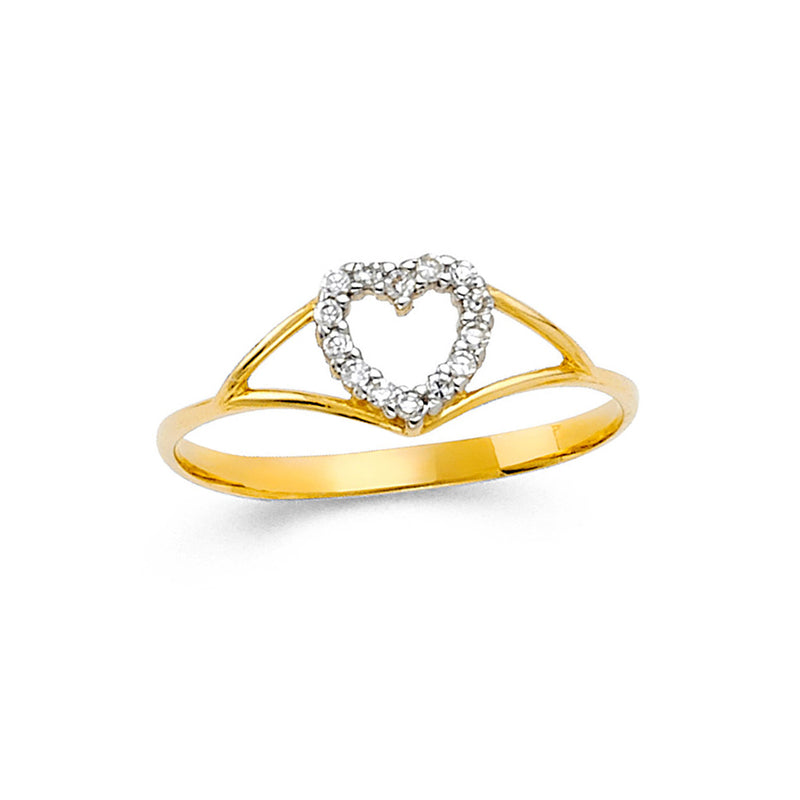 Open Heart Eternity Split Ring