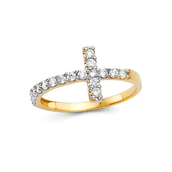 Cross CZ Ring