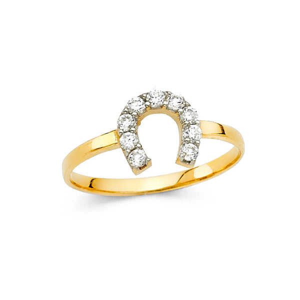 Horseshoe CZ Ring