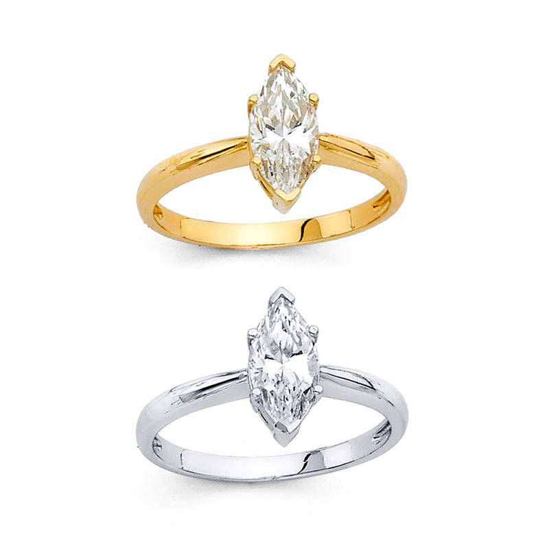 Marquise CZ Solitaire Ring