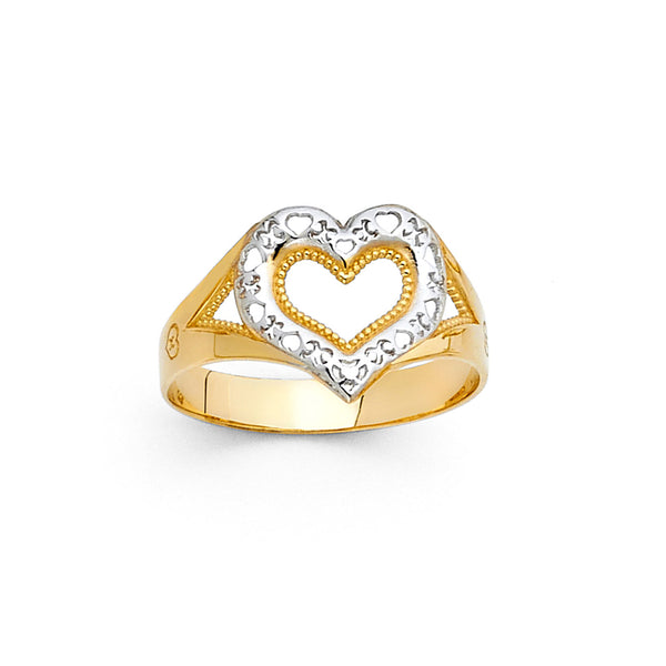 Open Heart Split Ring