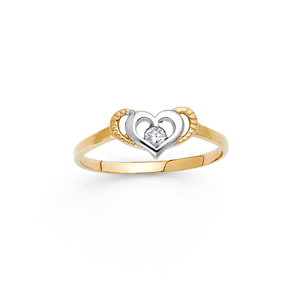 Double Layer Heart Ring