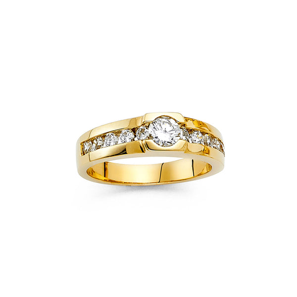 Channel Set Round CZ Ring