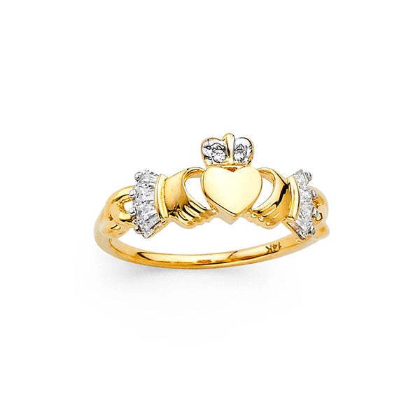 Claddagh CZ Ring