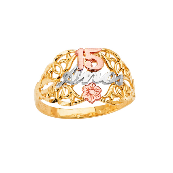 Quince Flower Filigree Ring
