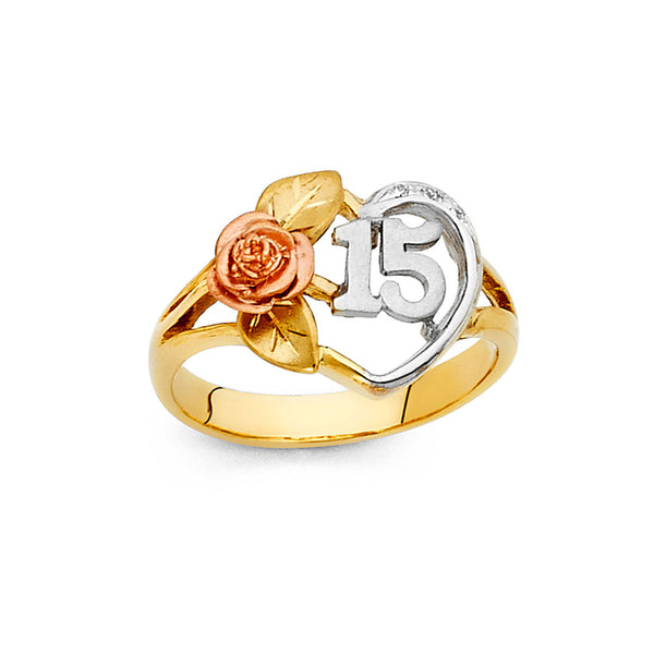Quince Heart and Rose Ring