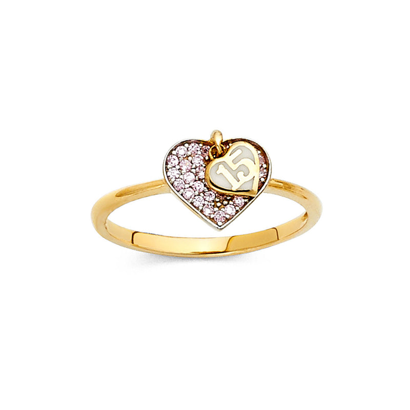 Quince Heart CZ Filled Ring