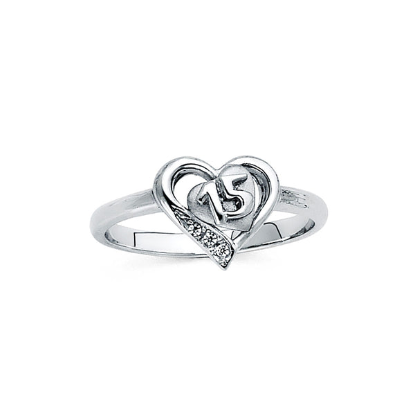 Quince Heart CZ Ring