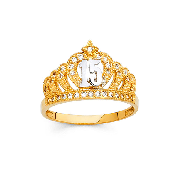 Quince Crown CZ Ring
