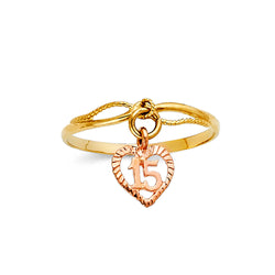 Quince Heart Charm Ring