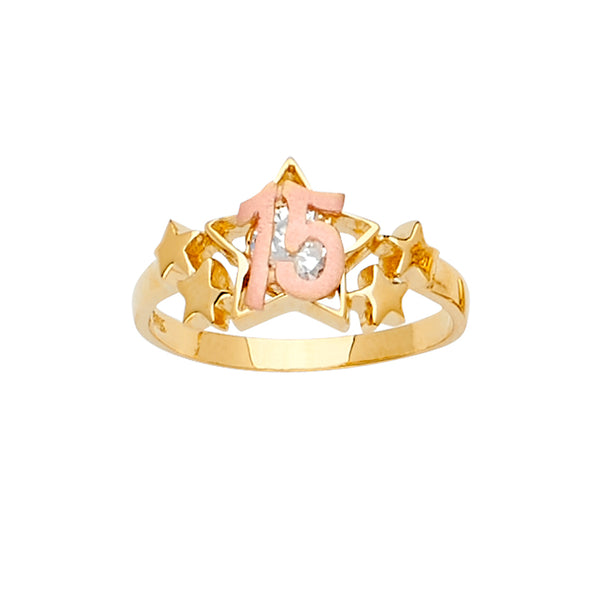 Quince Star CZ Ring