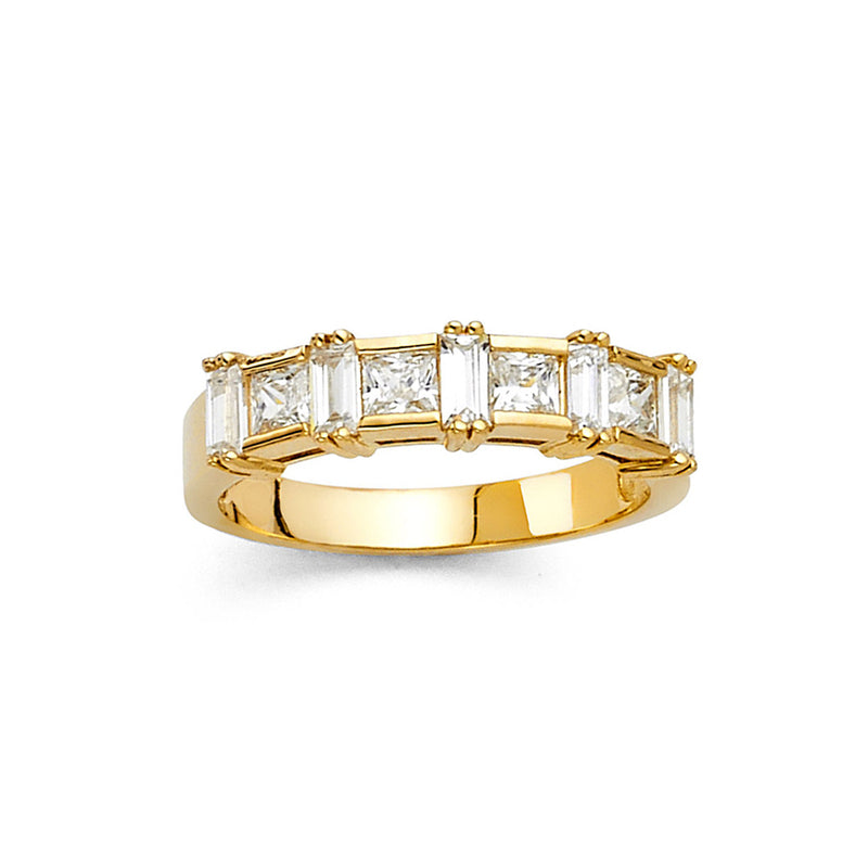 Crown Baguette CZ Band